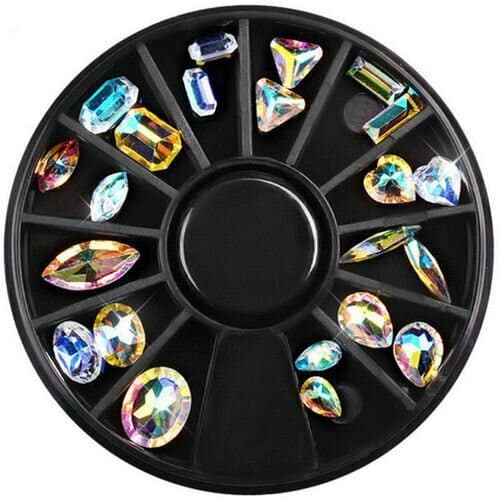 Aloha-nail-art-decoration_Best Selling Products Mixed Shapes Crystal AB Rhinestone